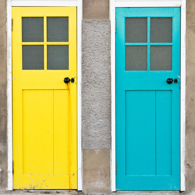 """""""Colorful doors"""" stock image"""