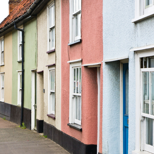 """Colorful houses"" stock image"