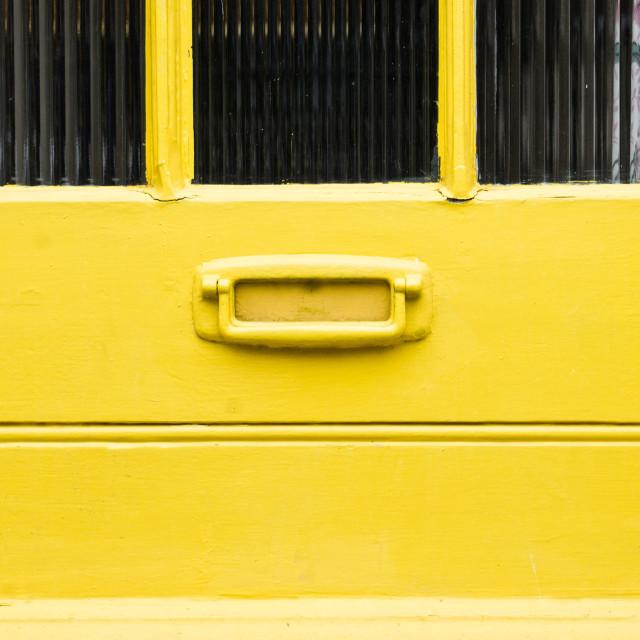 """""""Yellow door"""" stock image"""