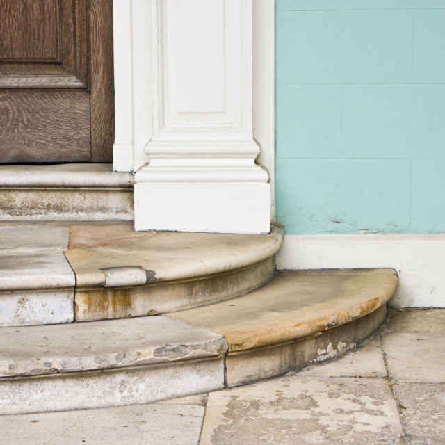 """Entrance steps"" stock image"