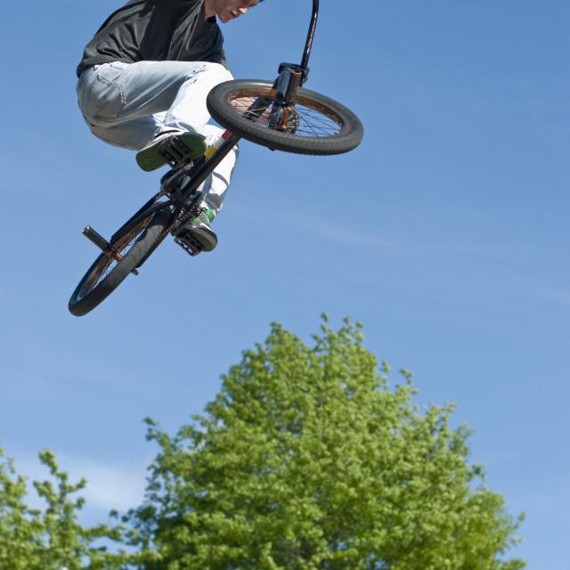 """""""BMX Bike Stunt"""" stock image"""
