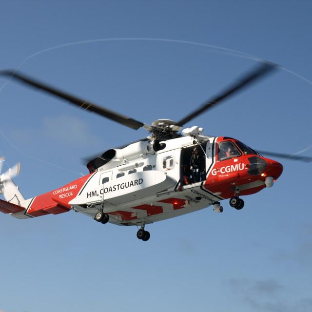 """H M coastguard helicopter"" stock image"