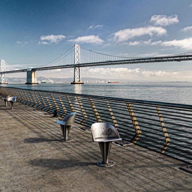 """Pier by the bridge"" stock image"
