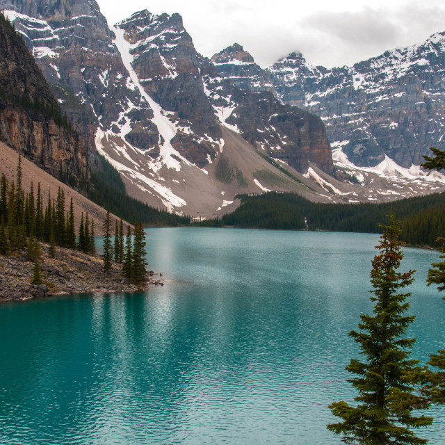 """Moraine Lake Canada"" stock image"