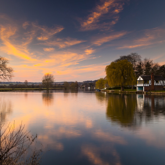 """Cookham Reach"" stock image"
