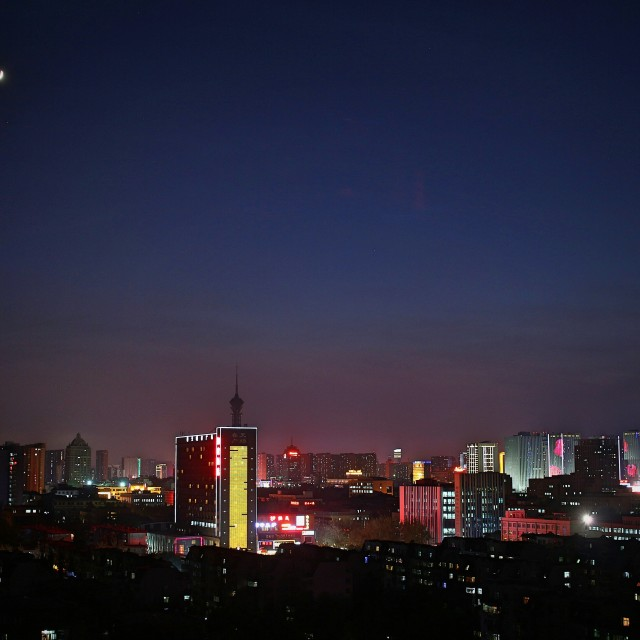 """""""The night view"""" stock image"""