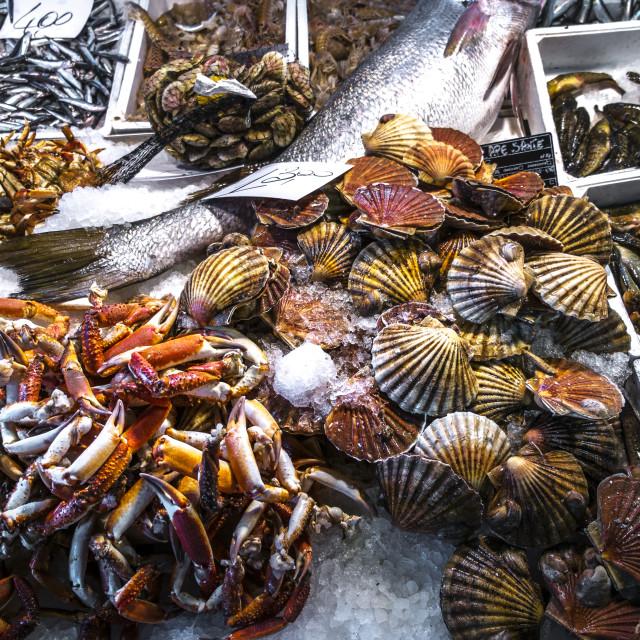 """""""Rialto market in Venice"""" stock image"""