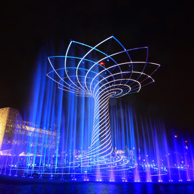 """""""The tree of Life at Expo 2015"""" stock image"""