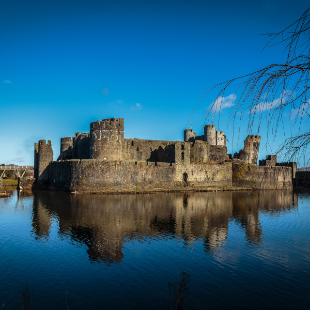 """Caerphilly castle"" stock image"