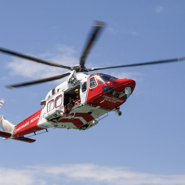 """Coast Guard Helicoptor Image 1"" stock image"