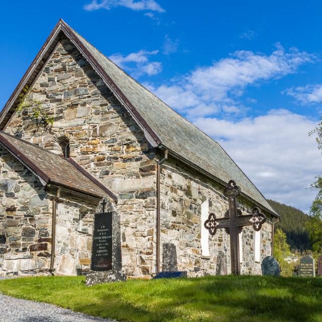 """""""Åre gamla kyrka - Svenska kyrkan"""" stock image"""