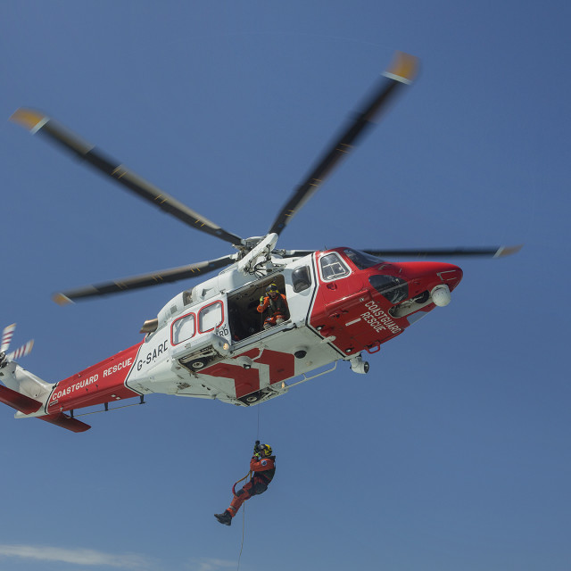 """""""Coastguard Helicoptor 3"""" stock image"""