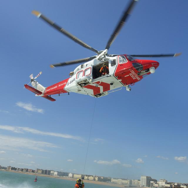 """""""Coastguard Helicoptor 4"""" stock image"""