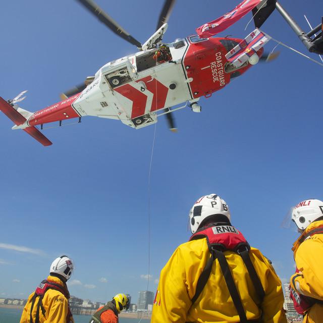 """""""Coastguard Helicoptor 5"""" stock image"""