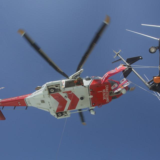 """""""Coastguard Helicoptor 6"""" stock image"""