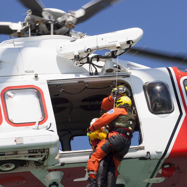 """""""Coastguard Helicoptor 7"""" stock image"""