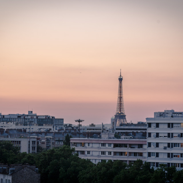 """Parisian Sunset"" stock image"