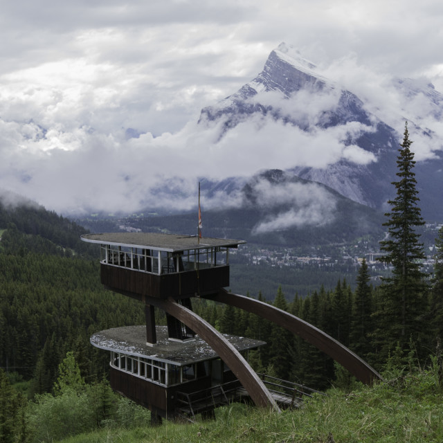 """""""Banff lookout"""" stock image"""