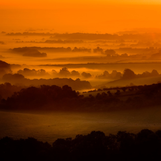 """Ditchling Sunrise"" stock image"