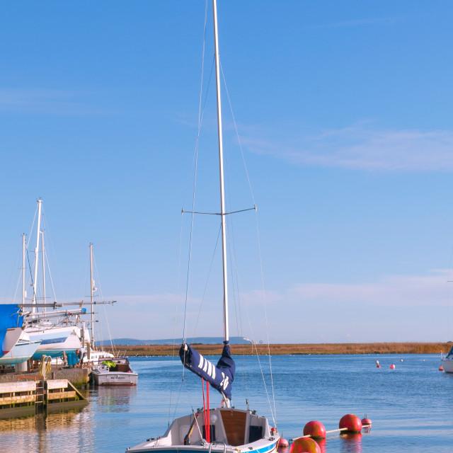 """Yacht Mooring"" stock image"