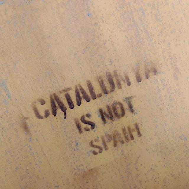 """""""Catalunya is not Spain"""" stock image"""
