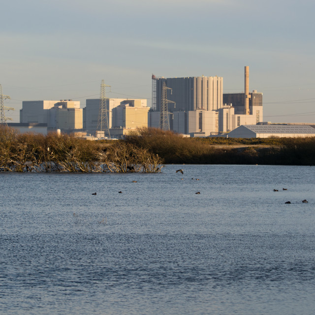 """""""Dungeness Nuclear Power Station from RSPB Reserve"""" stock image"""