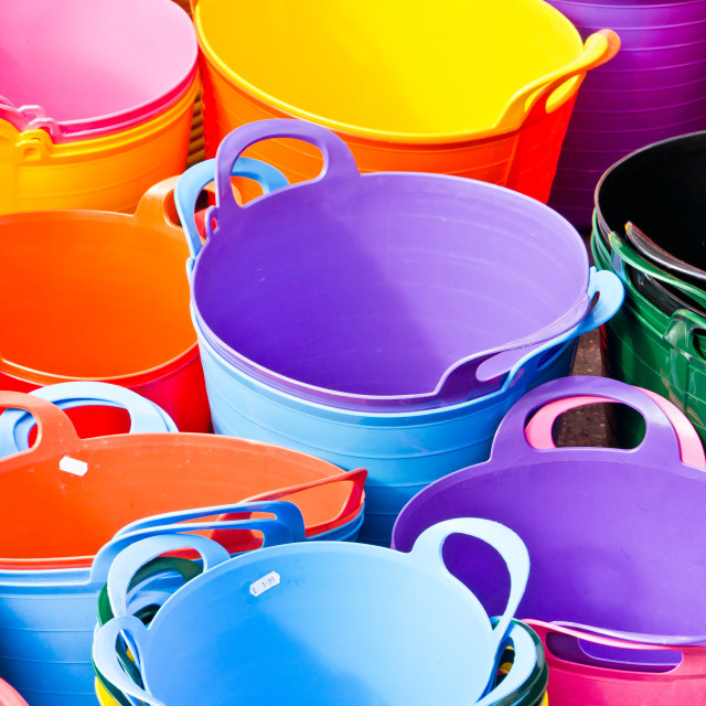 """""""Colorful tubs"""" stock image"""