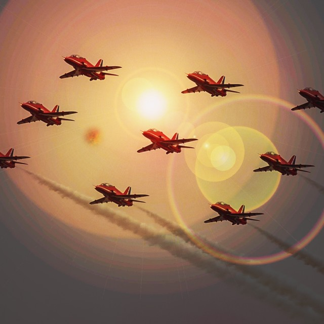 """""""Red Arrow Formation"""" stock image"""