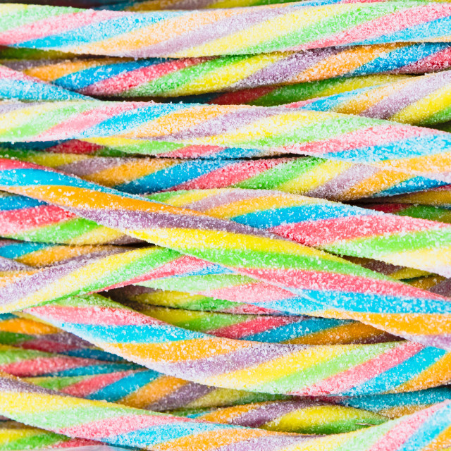"""Candy laces"" stock image"