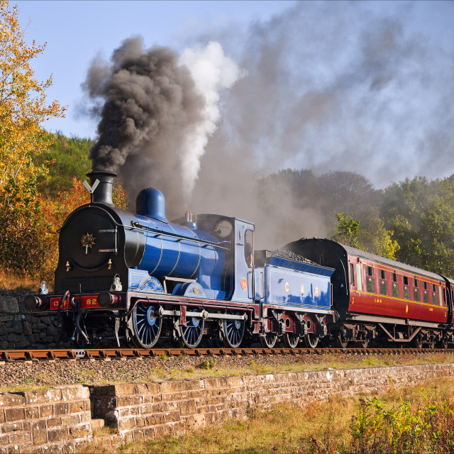 """Caledonian steam locomotive at Dowles Junction"" stock image"
