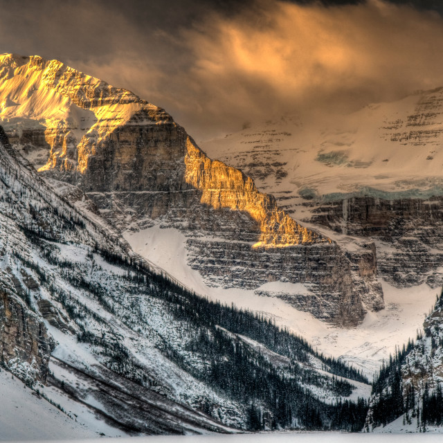 """Alberta Sunrise"" stock image"