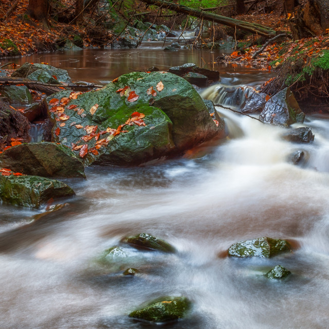"""""""Creek - long exposure"""" stock image"""