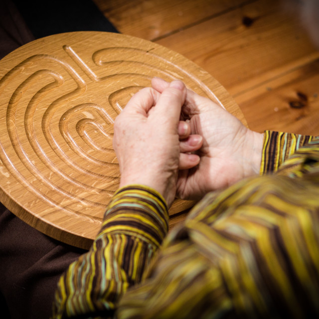 """""""wooden labyrinth"""" stock image"""