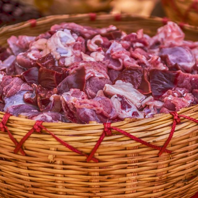"""Bucket of meat"" stock image"