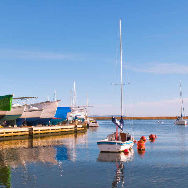 """""""Calm Harbour"""" stock image"""