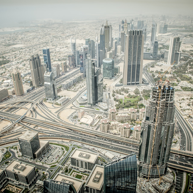 """View from the Burj khalifa"" stock image"
