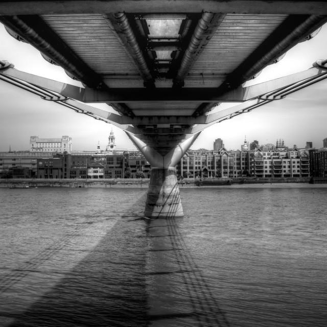 """""""Millennium Bridge London"""" stock image"""