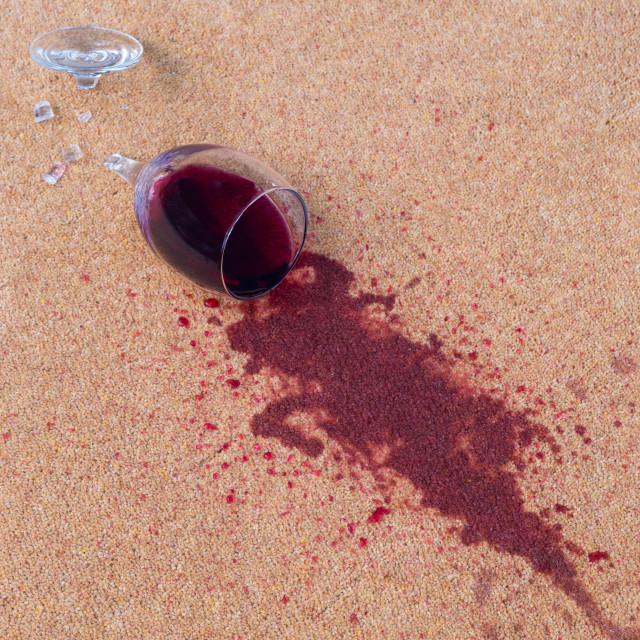 """red wine on carpet"" stock image"