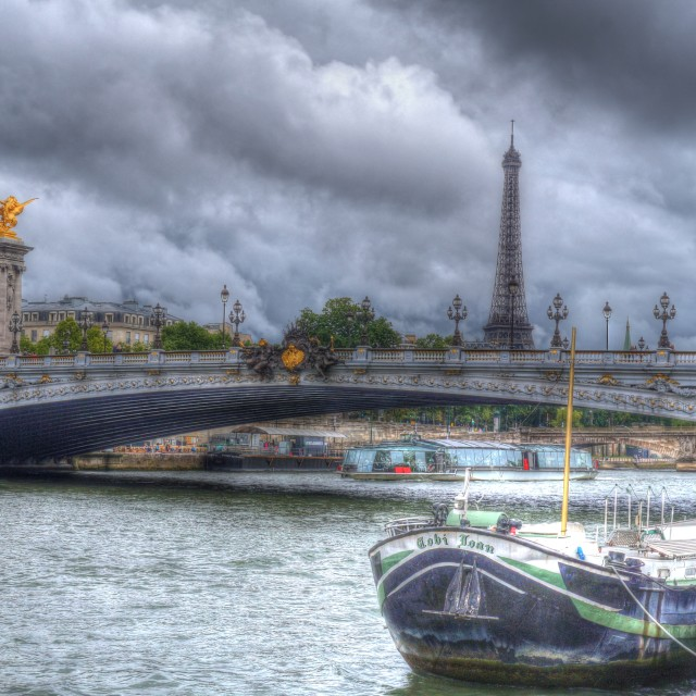 """Point Alexander and Paris Boat"" stock image"