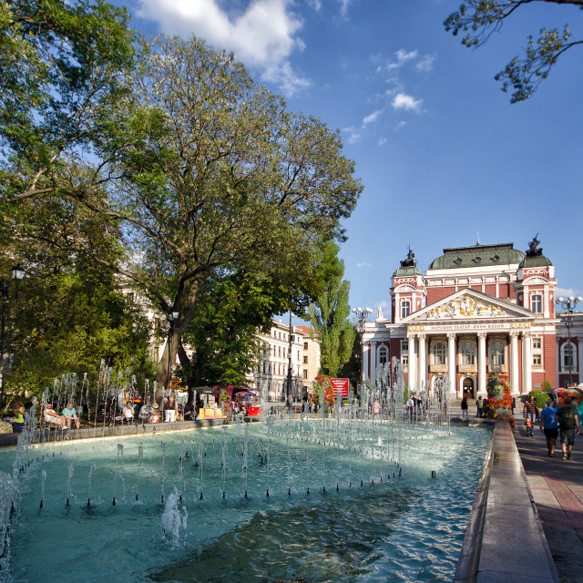 """National Theater in Sofia, Bulgaria"" stock image"