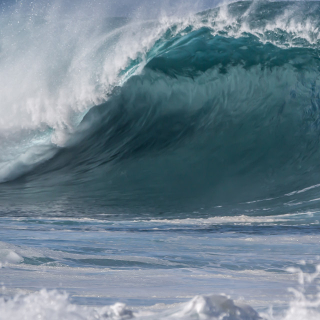 """North shore Oahu ocean wave"" stock image"