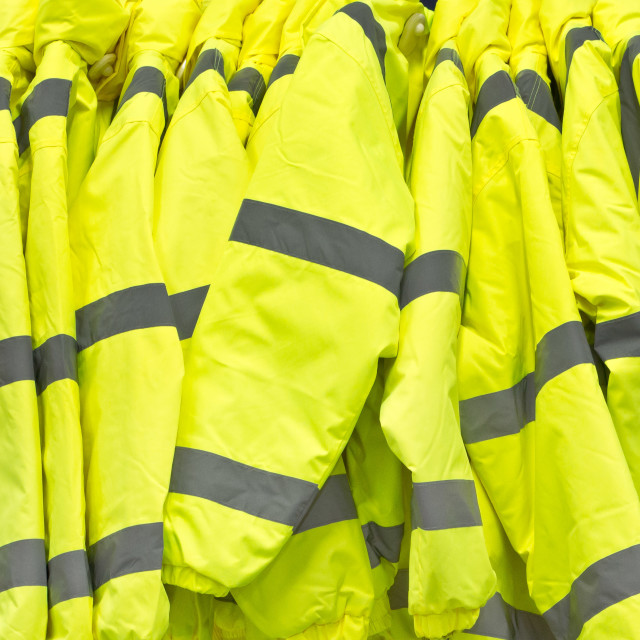 """High visibility jackets"" stock image"