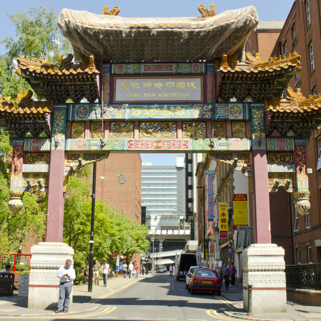 """Chinatown, Manchester"" stock image"
