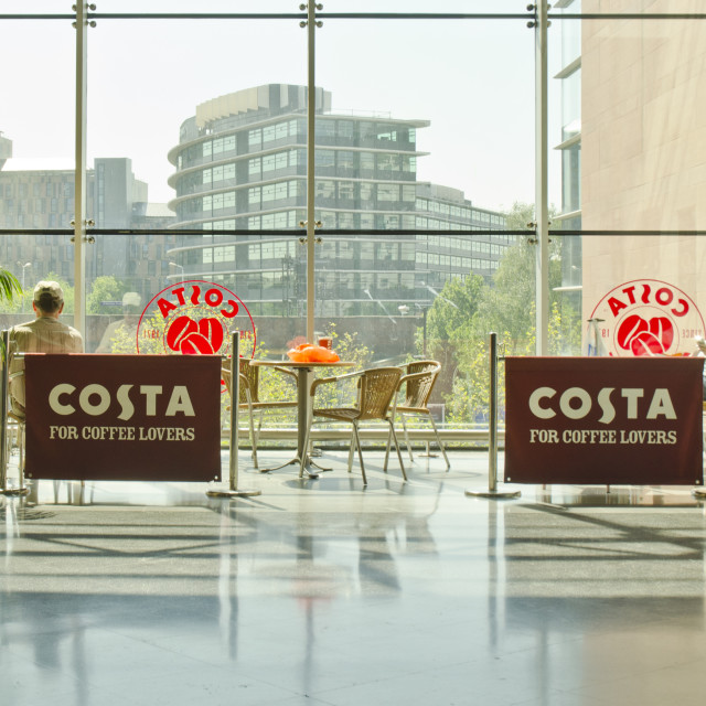 """Costa coffee shop"" stock image"