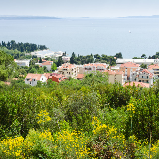 """Vista from Mount Marjan in Split, Croatia"" stock image"