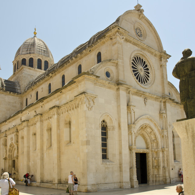 """Sibenik Cathedral, Croatia"" stock image"