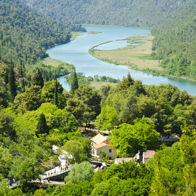 """Lake in Krka National Park, Croatia"" stock image"