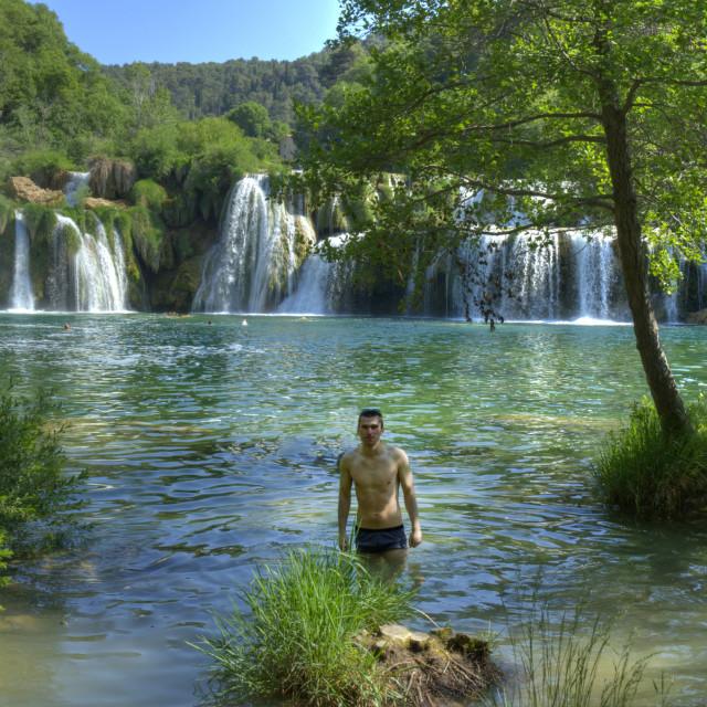"""Waterfalls in Krka National Park, Croatia"" stock image"
