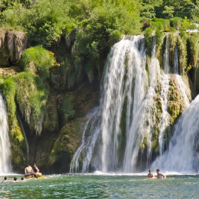 """""""Skradinski Buk waterfalls in Croatia"""" stock image"""