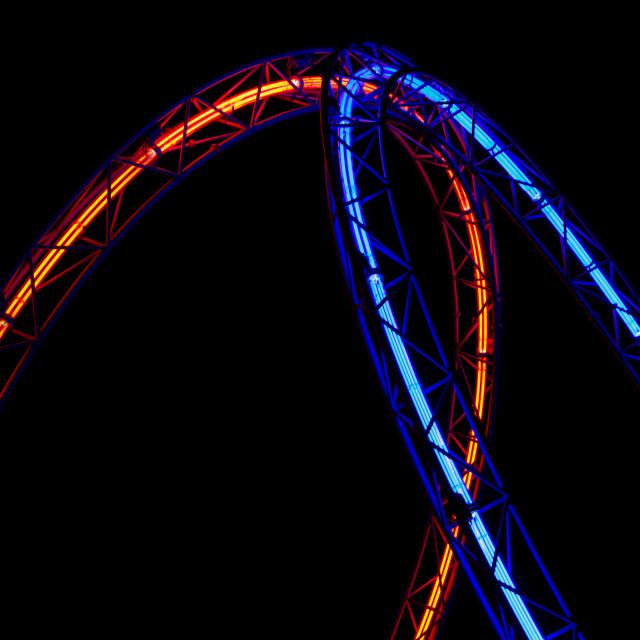 """Frankfurt's Circular Neo Lights"" stock image"